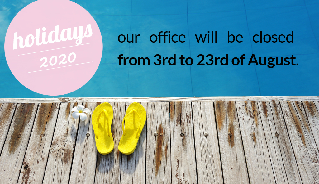 Our office is closed on following days